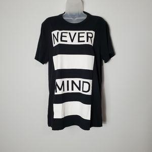 Black Matter Men's Never Mind Graphic Tee - US M
